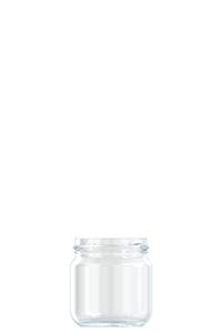 212ml flint glass Puschkin food jar