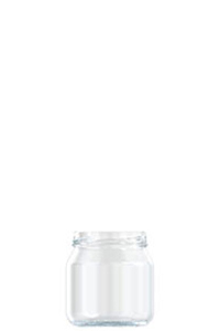 265ml flint glass food jar