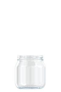535ml flint glass food jar