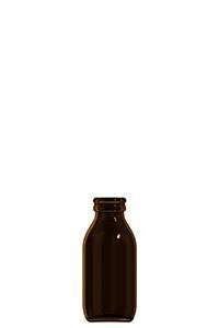 100ml amber glass dropless bottle