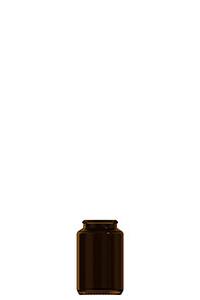 60ml amber glass tablet jar