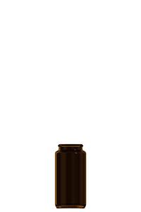 75ml amber glass tablet jar