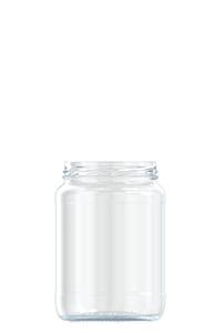 730ml flint glass food jar
