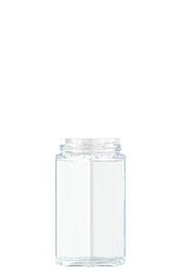 480ml flint glass Hexagonal food jar
