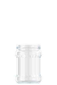 550ml flint glass food jar
