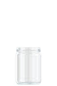 555ml flint glass food jar