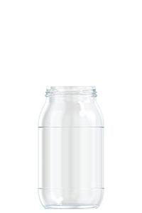 725ml flint glass food jar