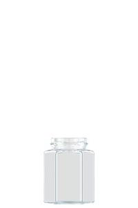 212ml flint glass Hexagonal food jar
