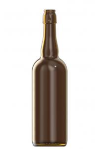 750ml amber glass Belgien oneway beer bottle