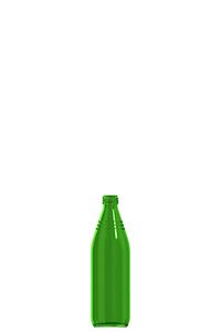 500ml green glass chemical bottle