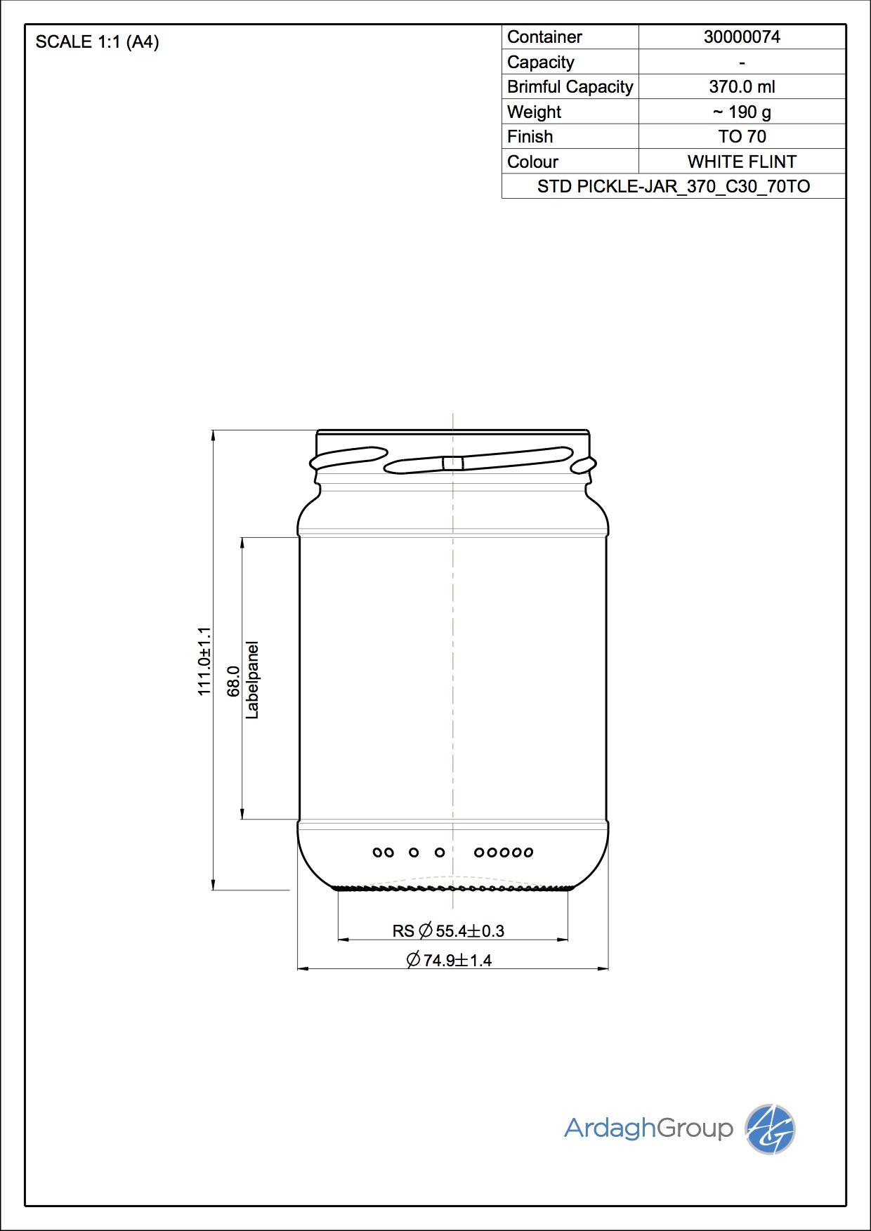 STD PICKLE-JAR_370_C30_70TO