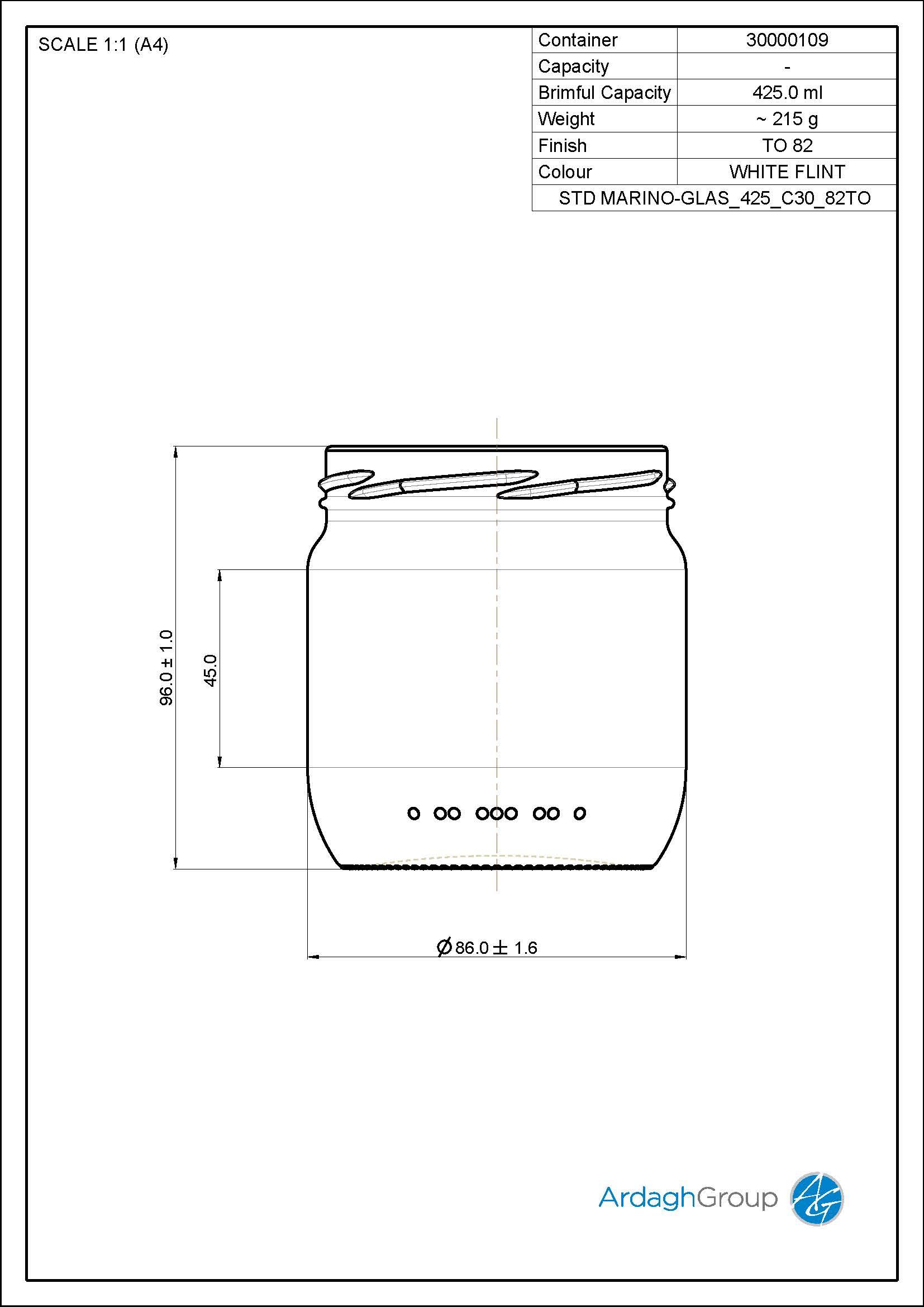 STD MARINO-GLAS 425 C30 82TO