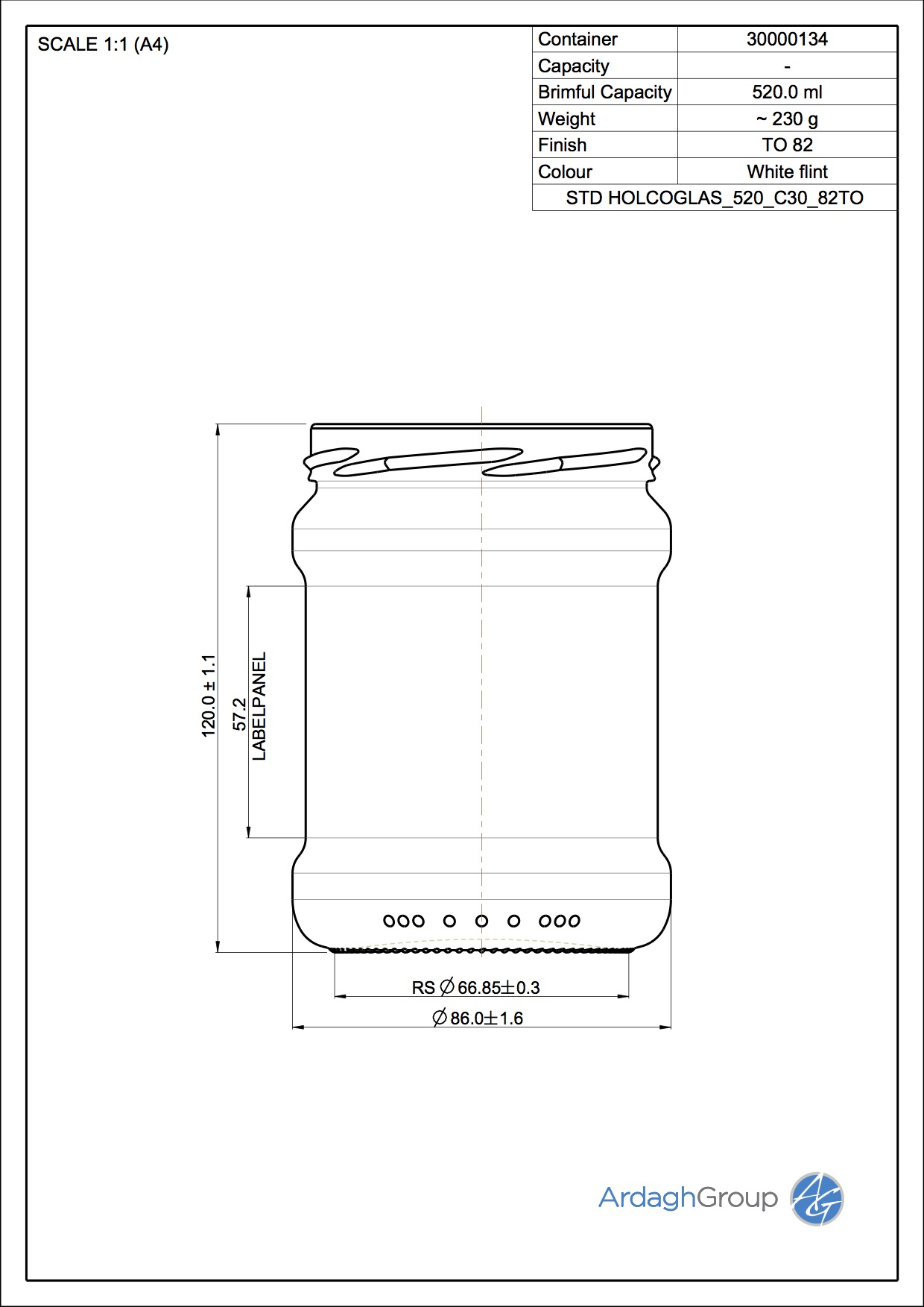 Holcoglas 520 C30 82TO