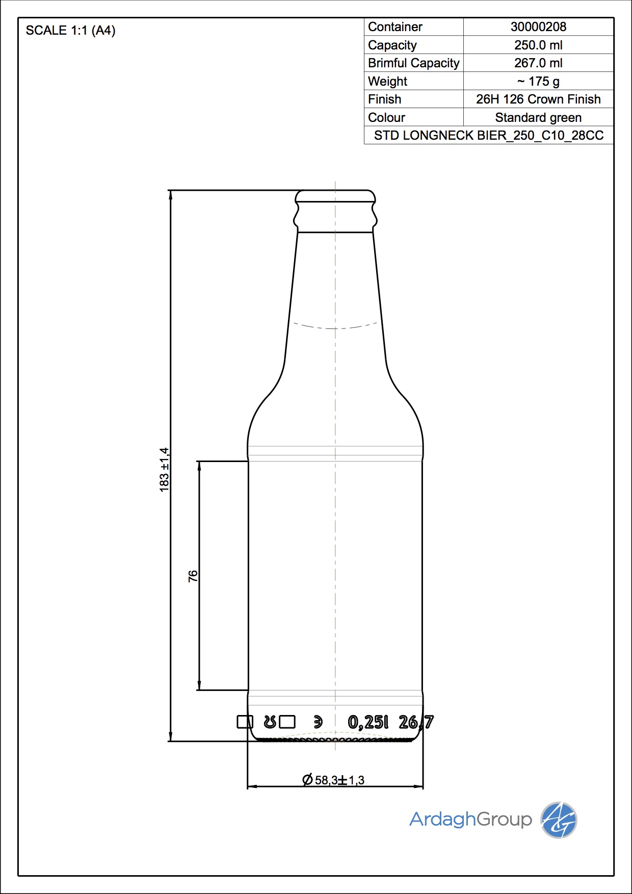 LONGNECK BIER 250 C10 28CC