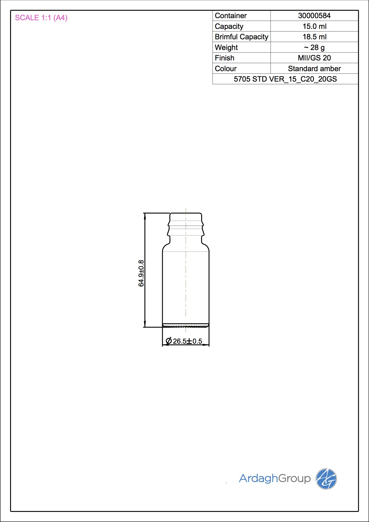 5705 STD VER 15 C20 20GS