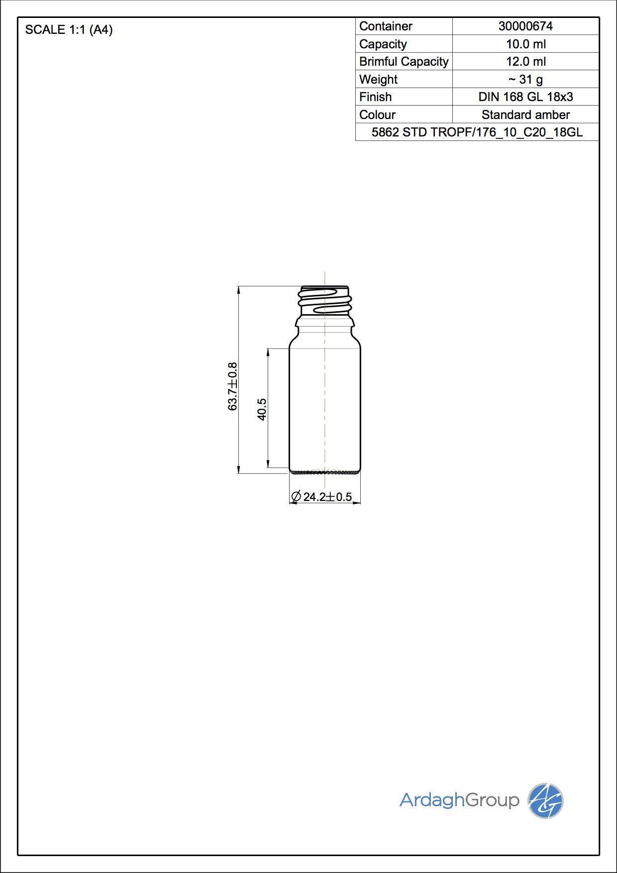 dropper bottle 10 ml