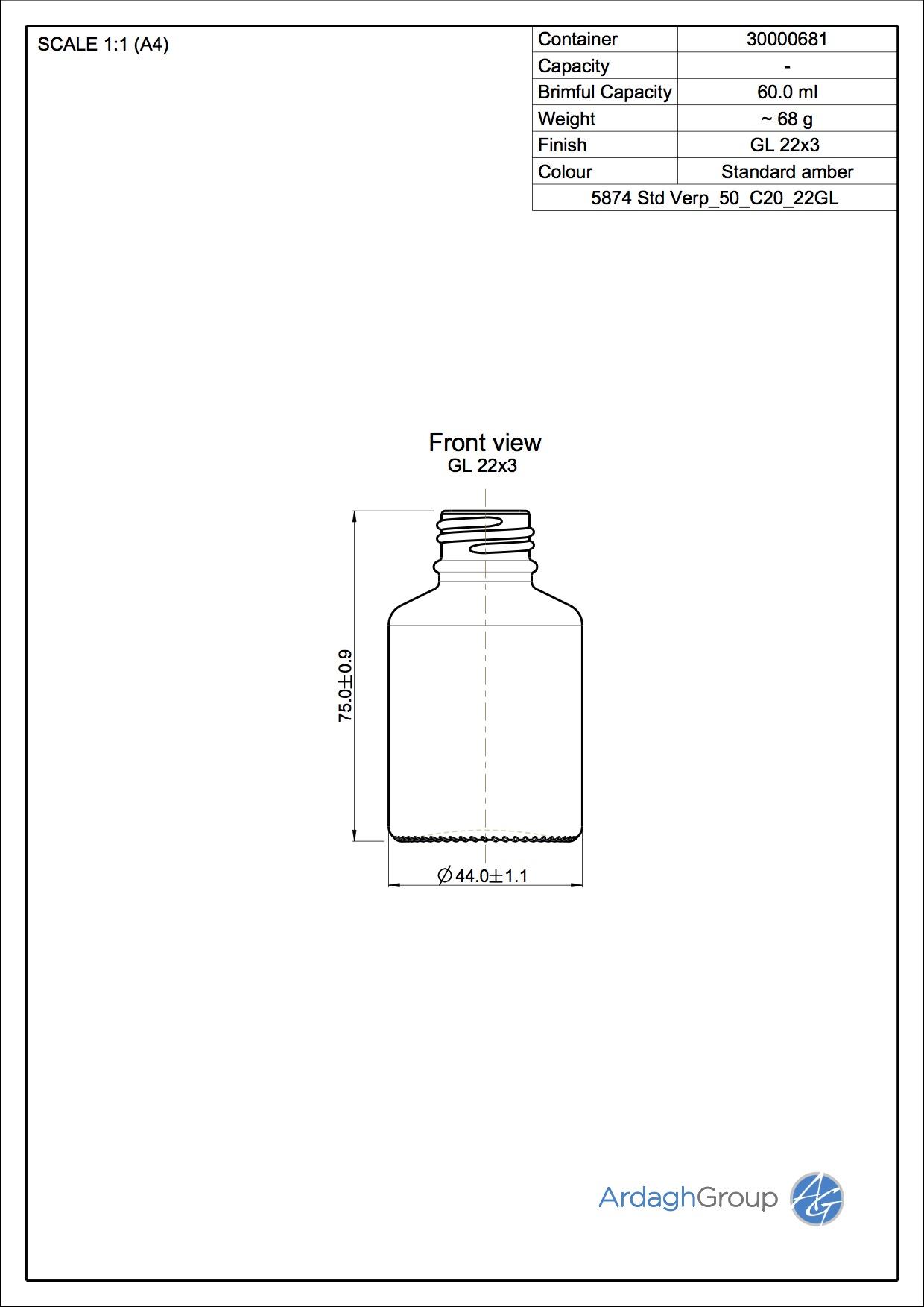 medicine bottle 50 ml