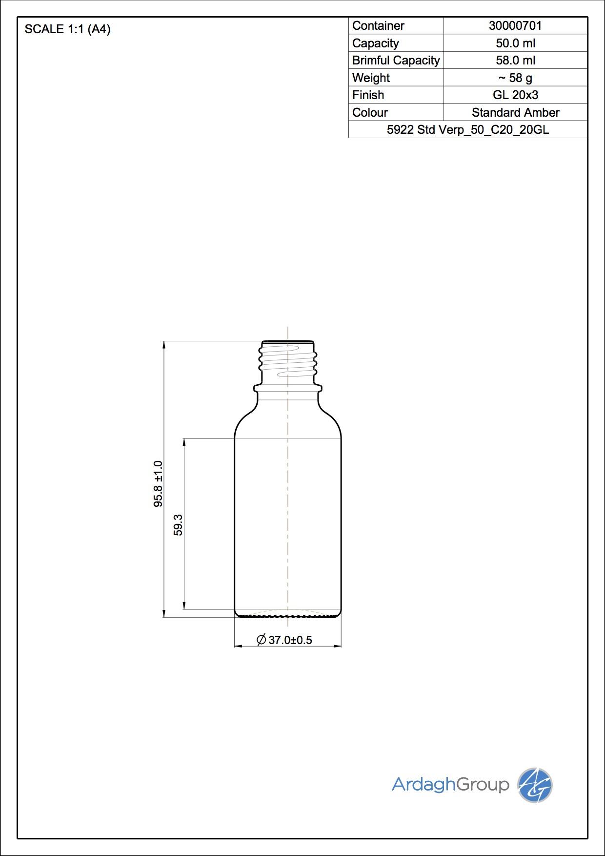 dropper bottle 50 ml