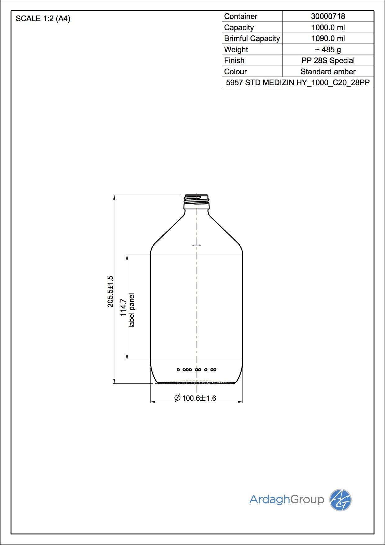 5957 STD MEDIZIN HY 1000 C20 28PP