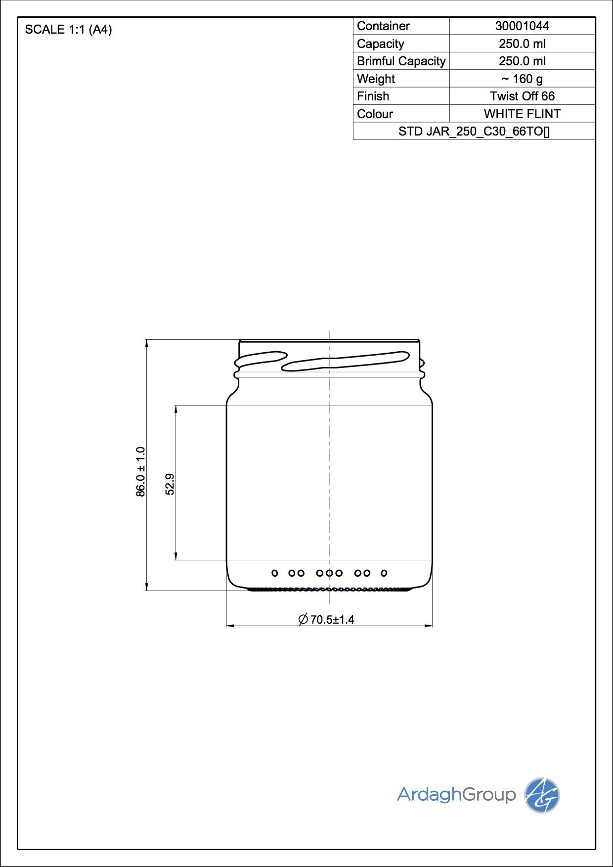 STD JAR 250 C30 66TO