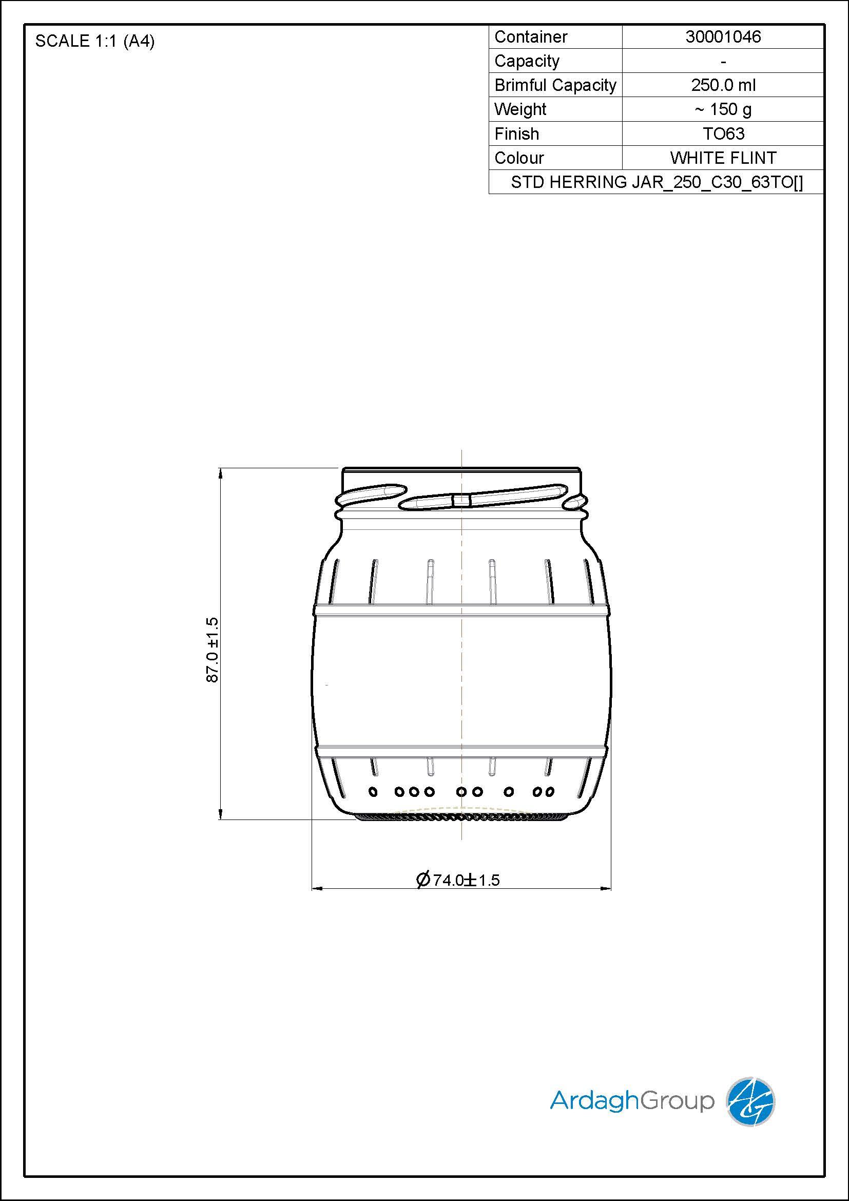 STD HERRING JAR 250 C30 63TO
