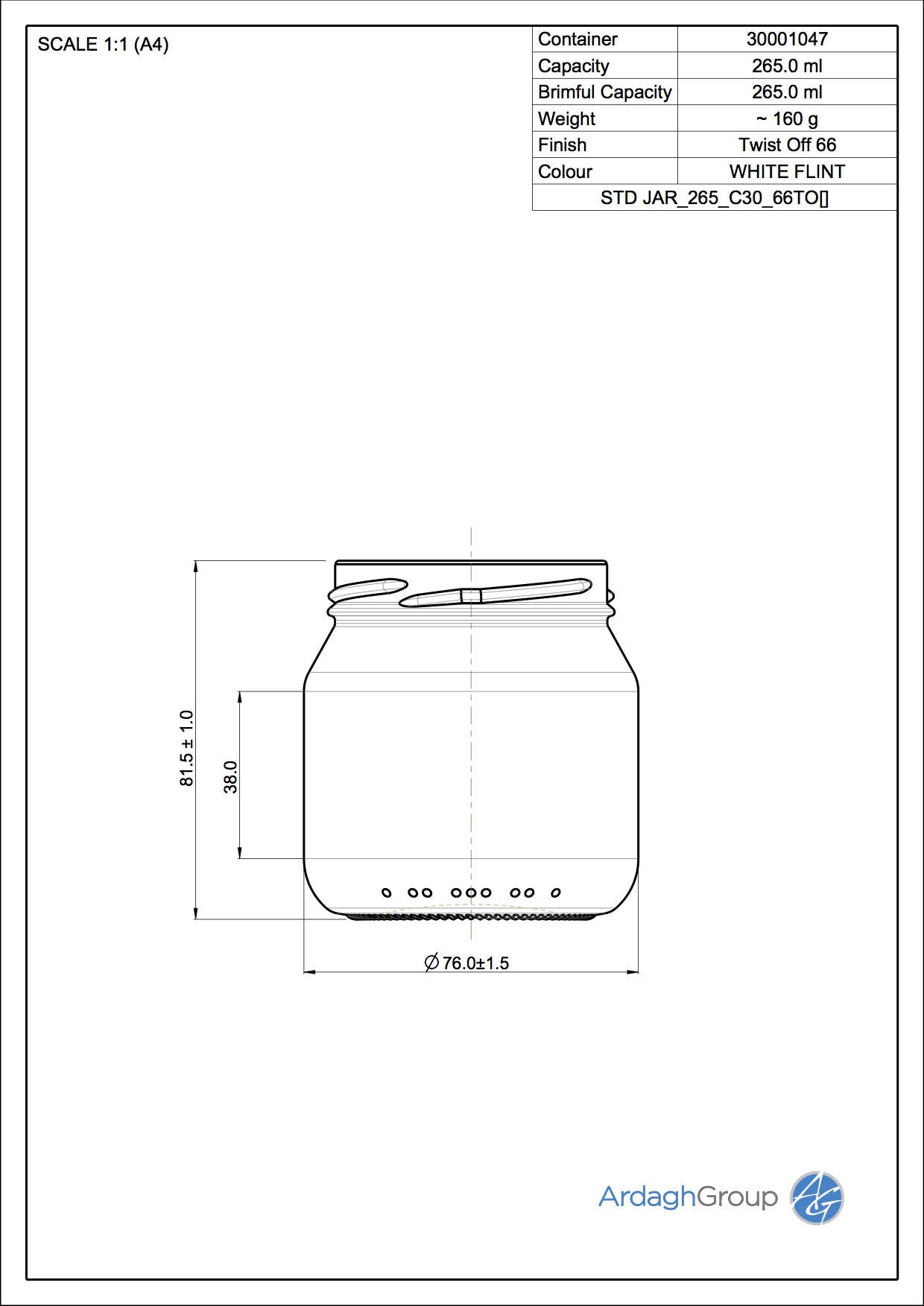 STD JAR 265 C30 66TO