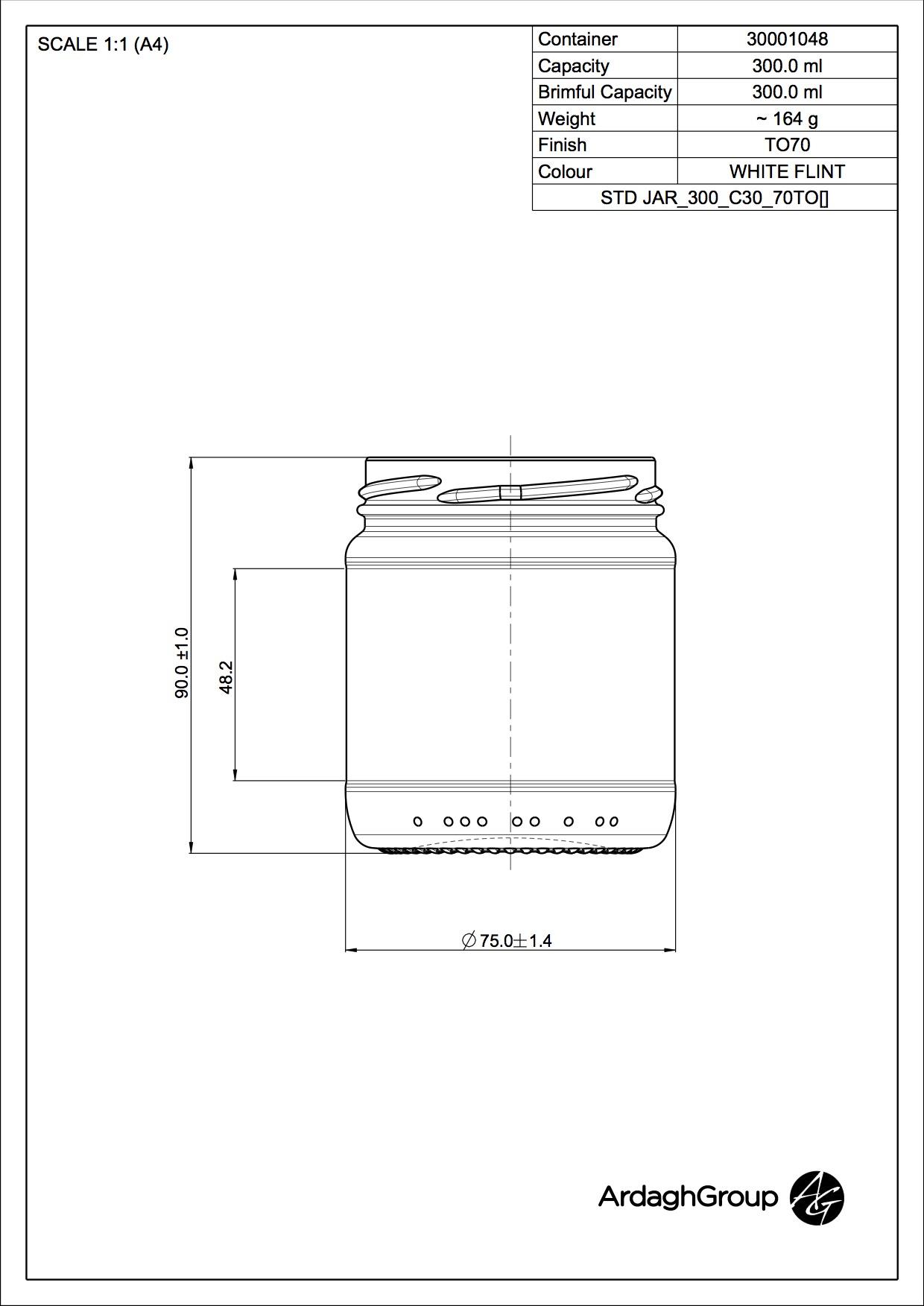 STD JAR 300 C30 70TO