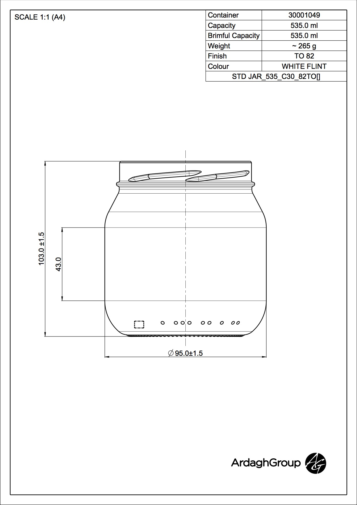 STD JAR 535 C30 82TO