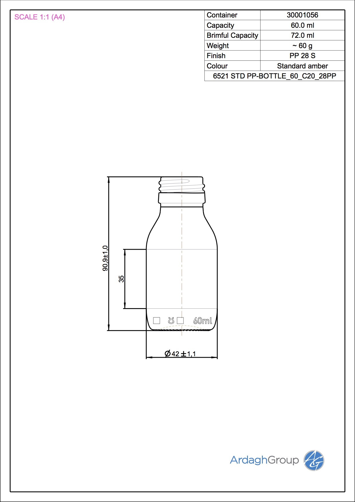 syrup bottle 60 ml