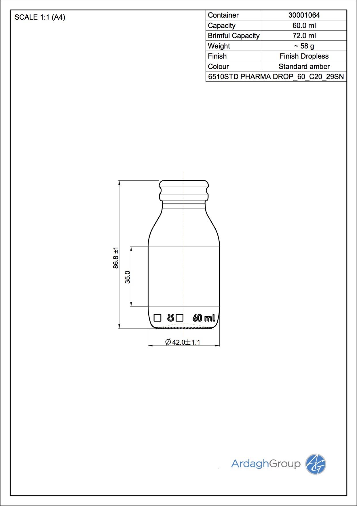 dropless bottle 60 ml