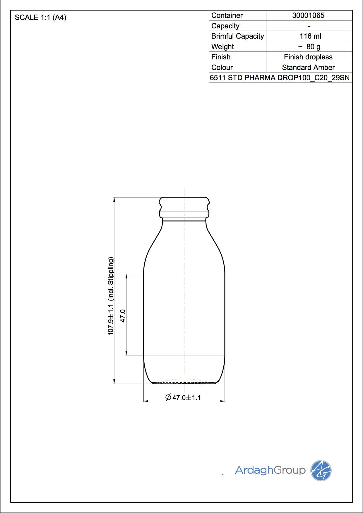 dropless bottle 100 ml