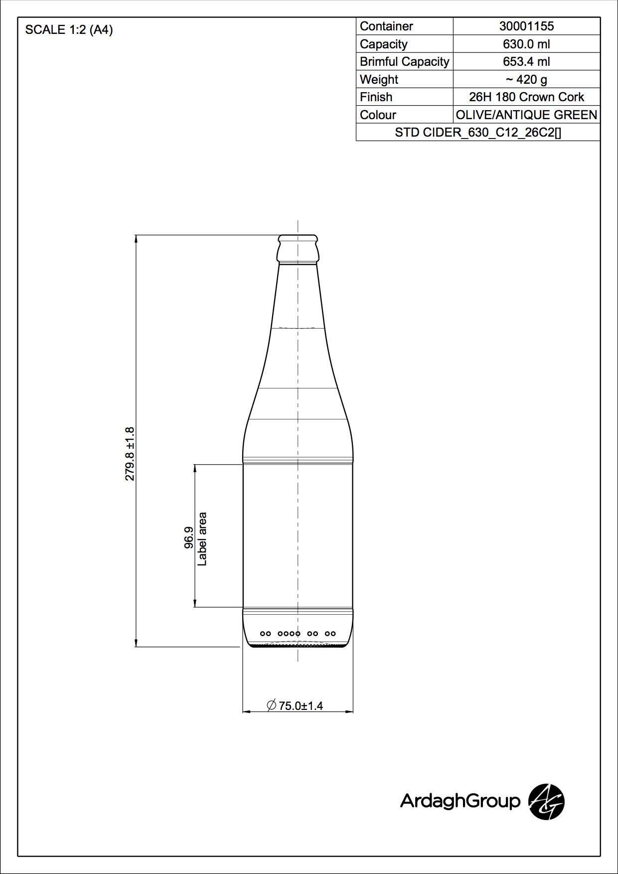 STD CIDER CROWN 630 C12 26C2