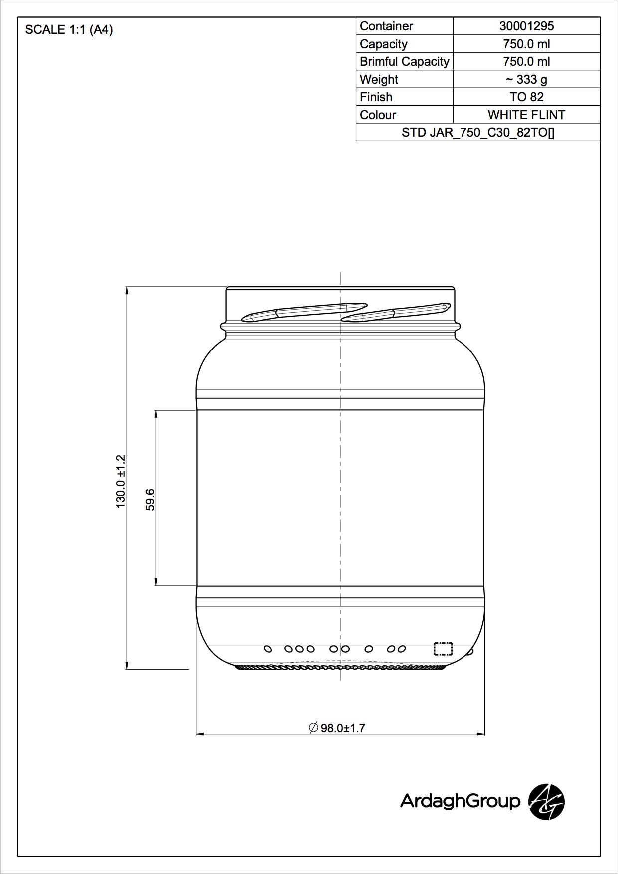 STD JAR 750 C30 82TO