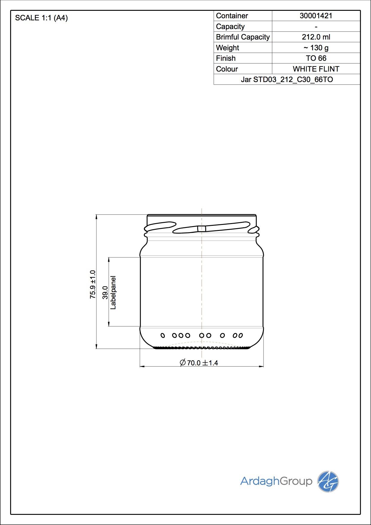 Jar STD03_212_C30_66TO