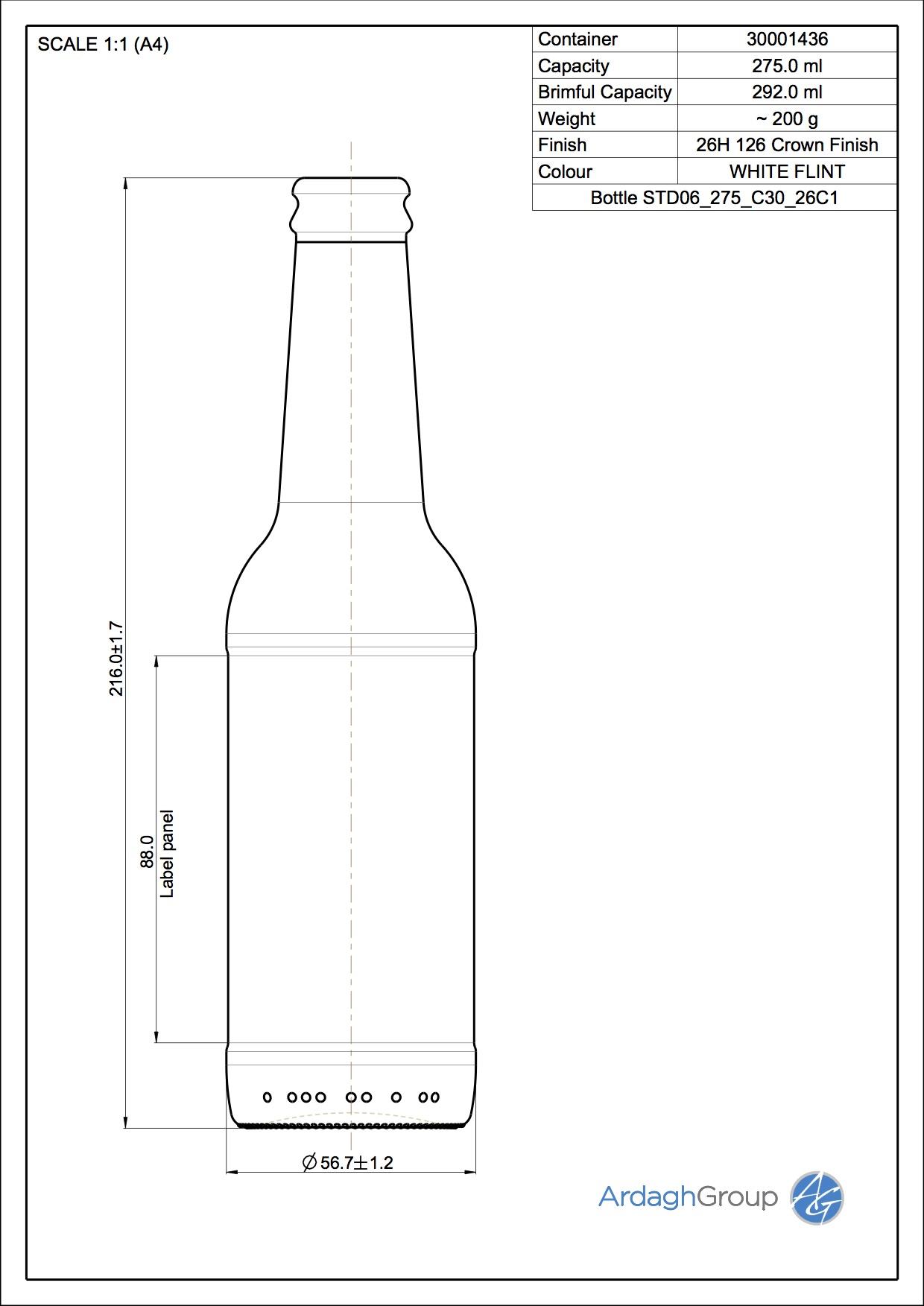 Bottle STD06 275 C30 26C1