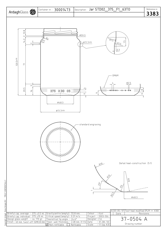 Jar STD02 375 C30 63TO