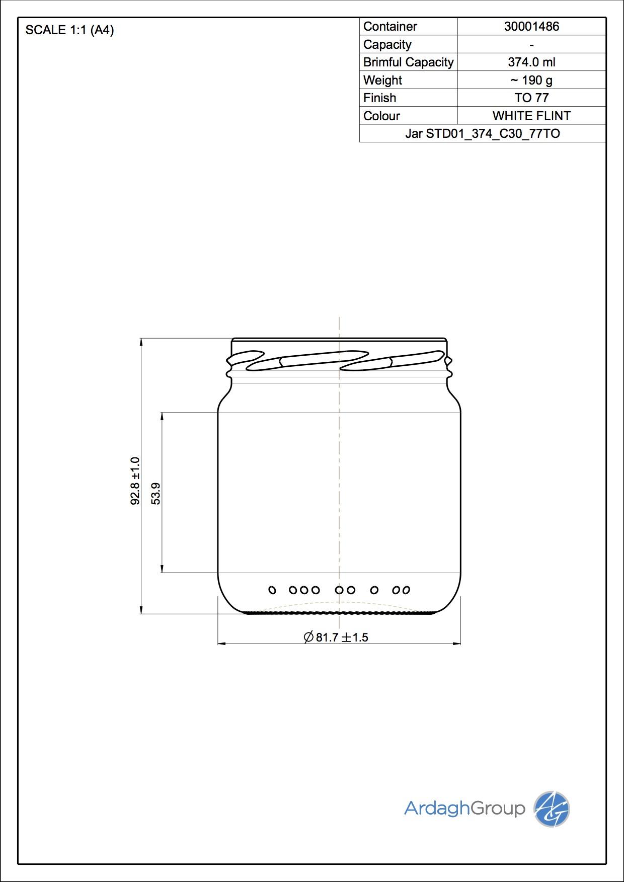Jar STD01_374_C30_77TO