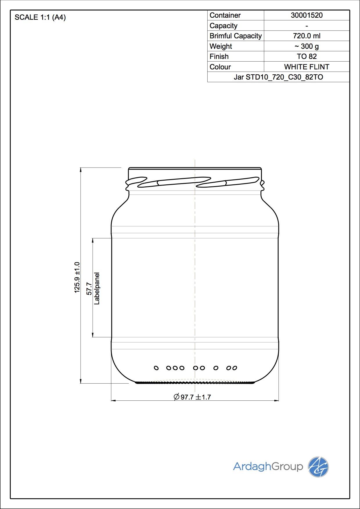 Jar STD10 720 C30 82TO