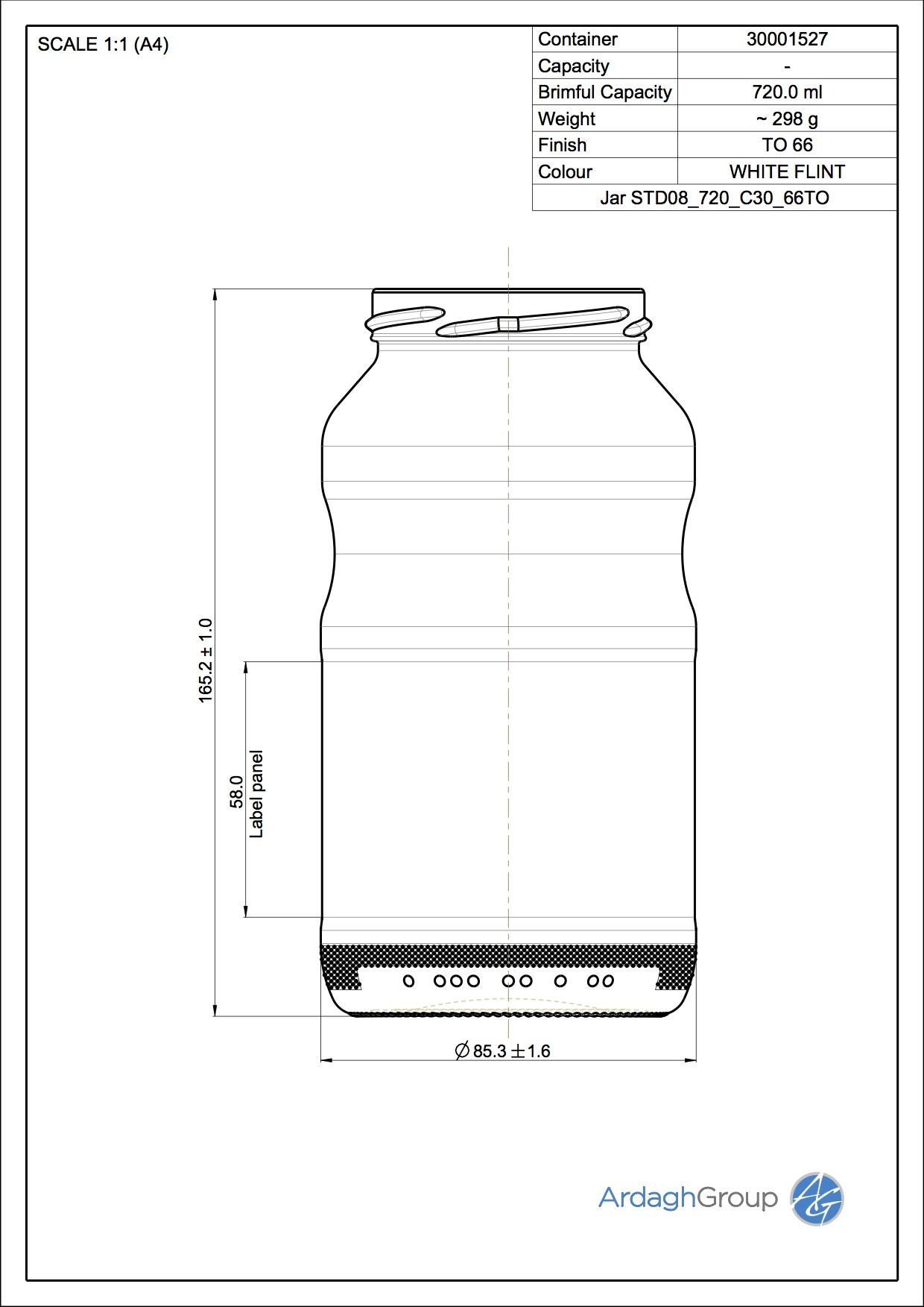 Jar STD08 720 C30 66TO