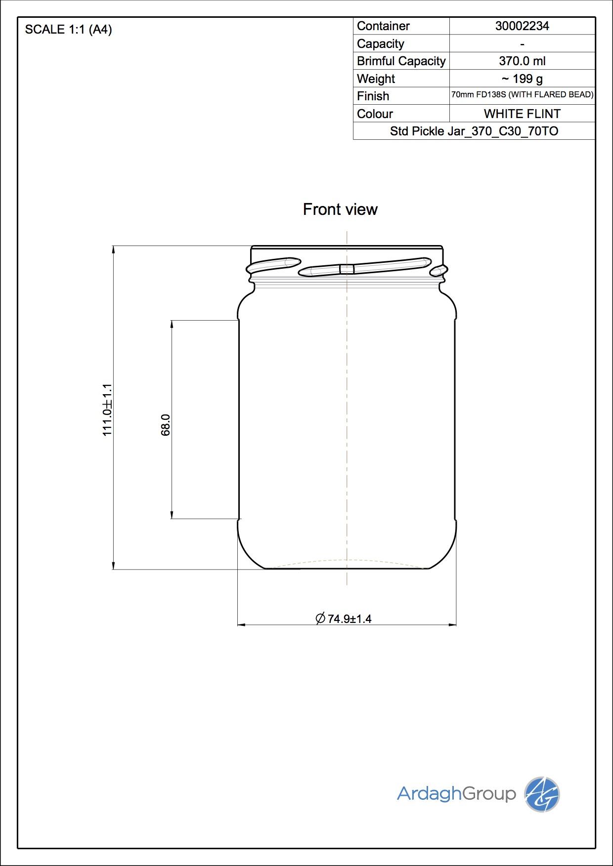 Std Pickle Jar_370_C30_70TO
