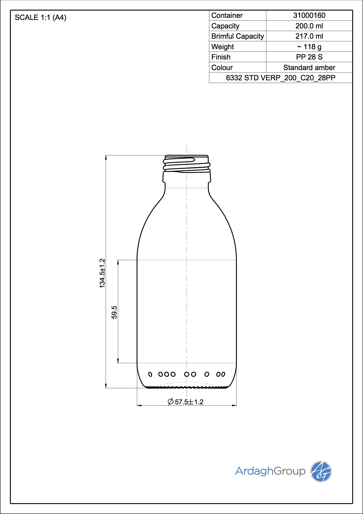 syrup bottle 200 ml