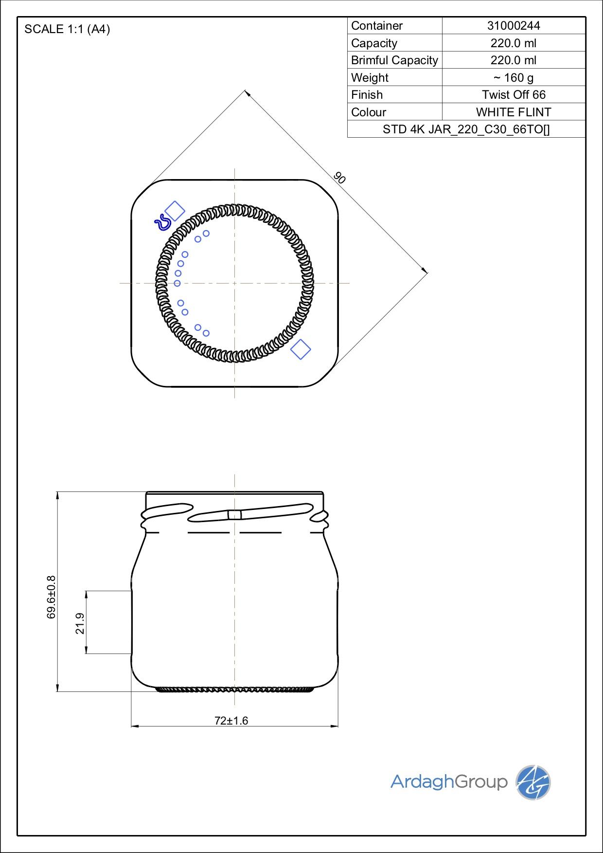 STD 4K JAR 220 C30 66TO