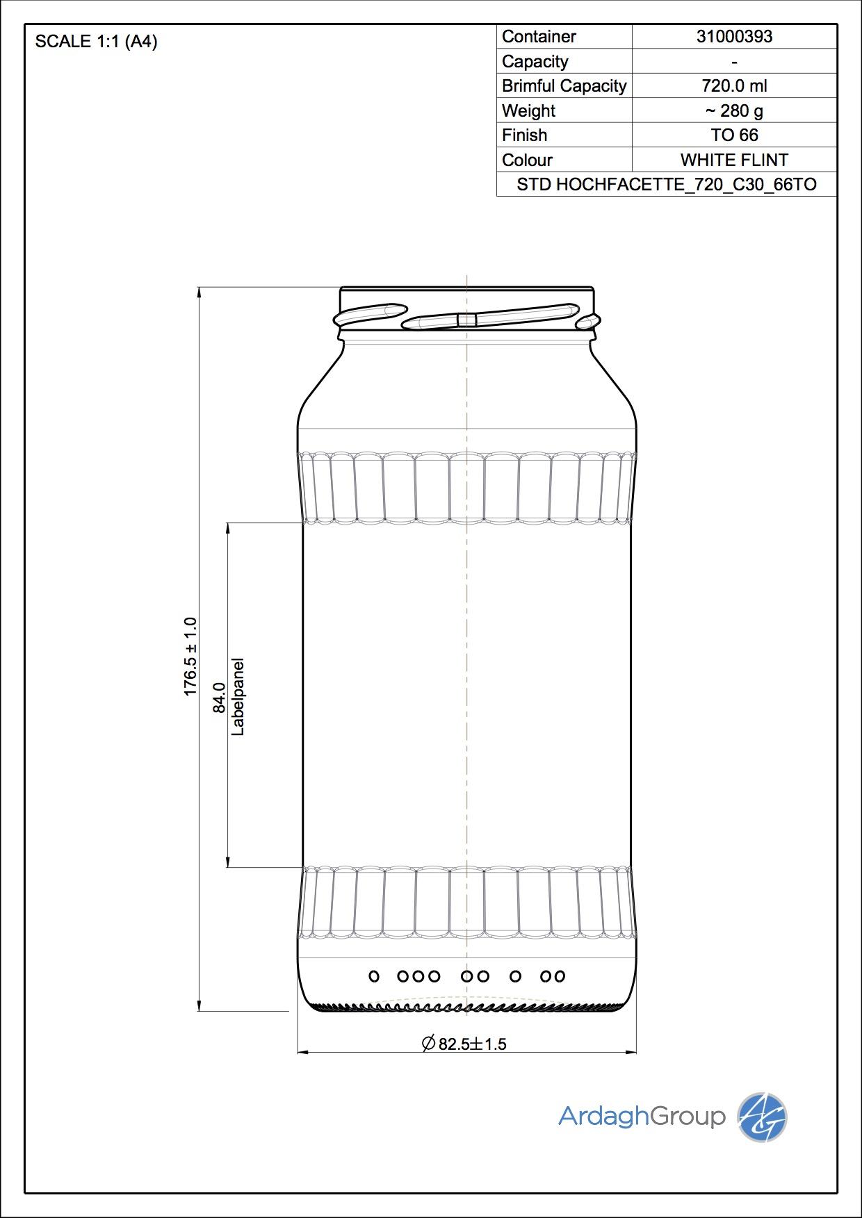 Hochfacette 720 C30 66TO