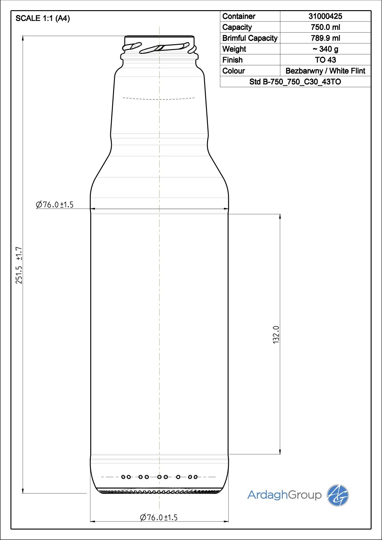 Std B-750 750 C30 43TO