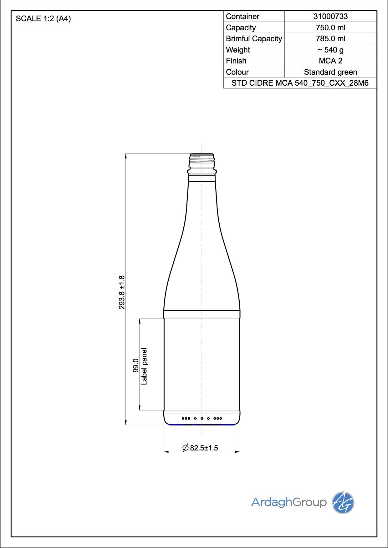 CIDRE MCA 540 750 C10 28M6