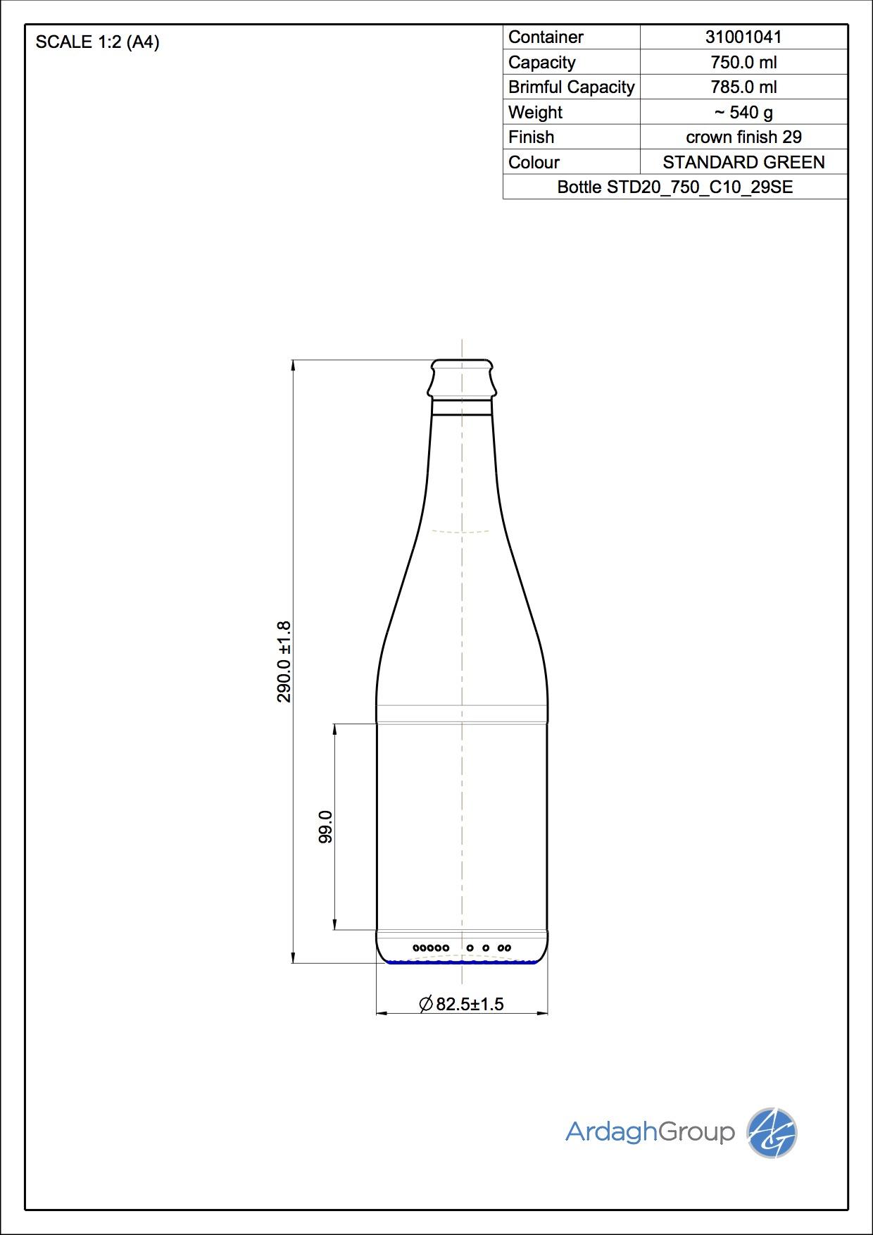 Bottle STD20 750 C10 29SE