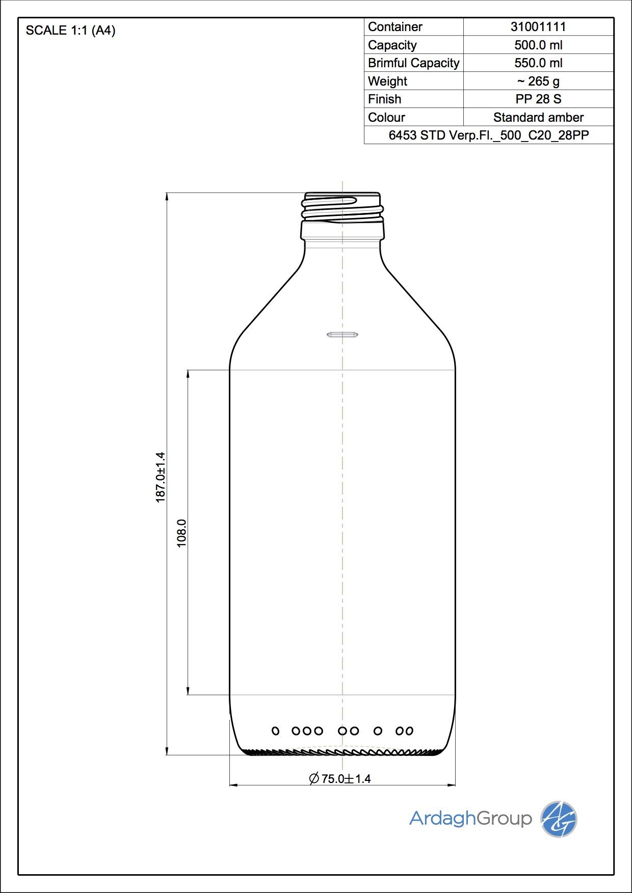6453 Verpackungsfl 500 C20 28PP