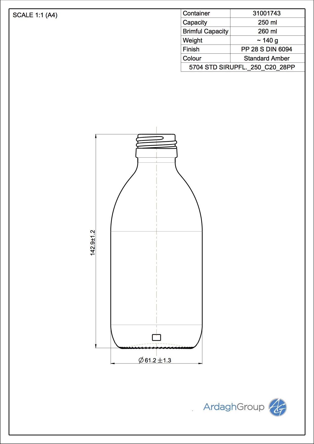 5704 Sirupflasche 250 C20