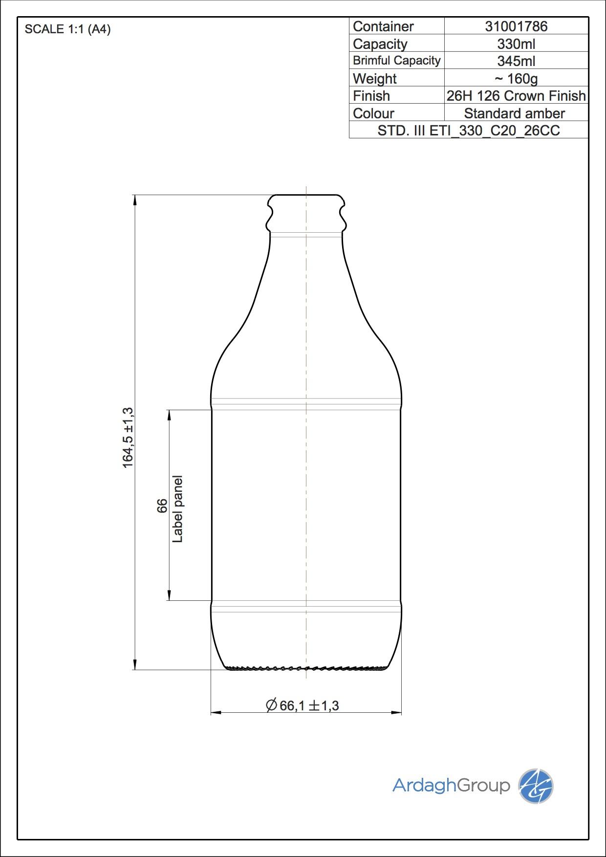 0,33 l Bierflasche
