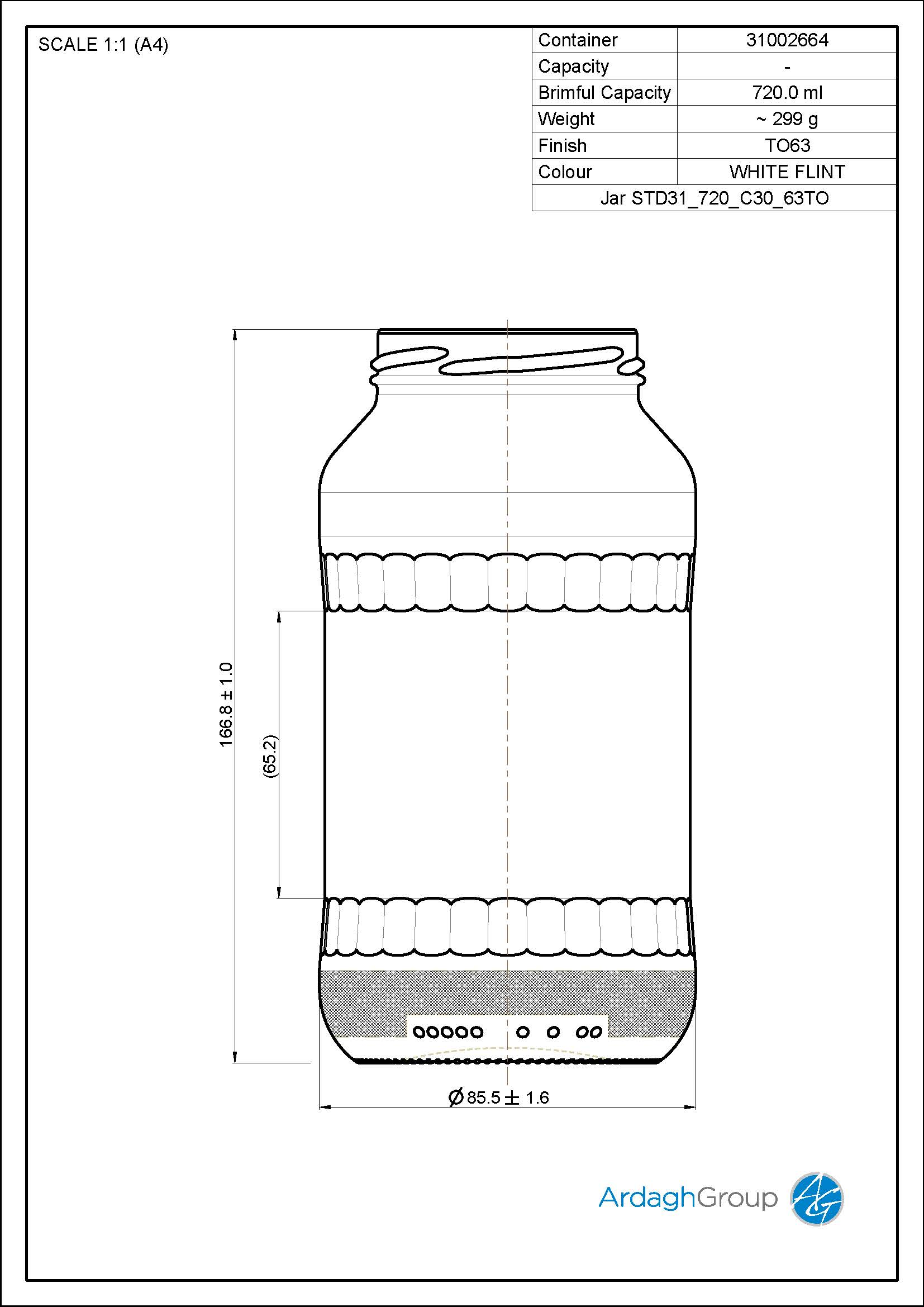 Jar STD31 720 C30 63TO